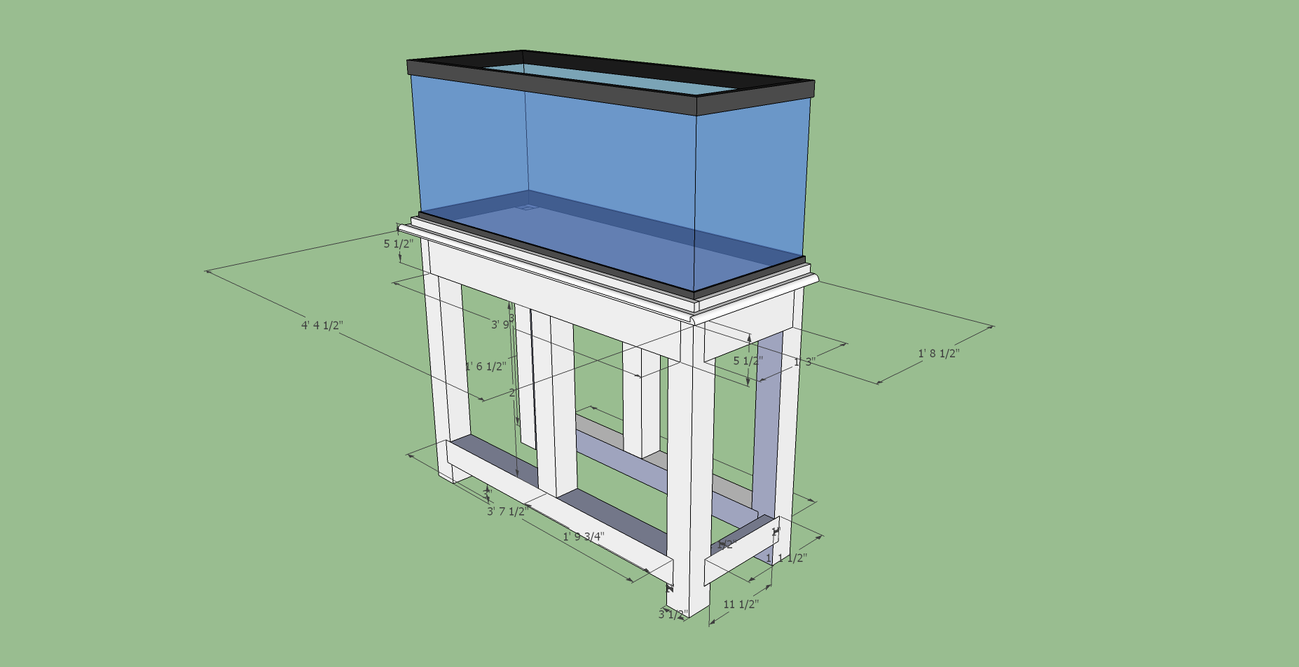Download diy 75 gallon aquarium stand plans diy balsa wood for 75 gallon fish tank dimensions