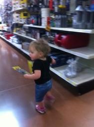 She grabbed two fishing packs and ran